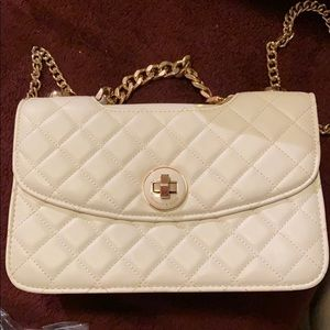 White crossbody charles & keith bag